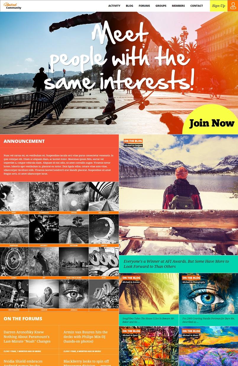 UnitedCommunity Buddypress WordPress Theme