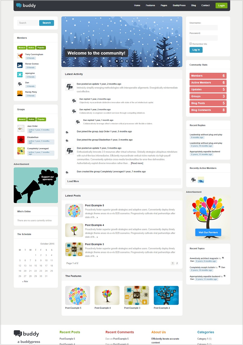 buddy wordpress theme