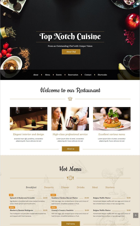 bon appetit restaurant wordpress theme