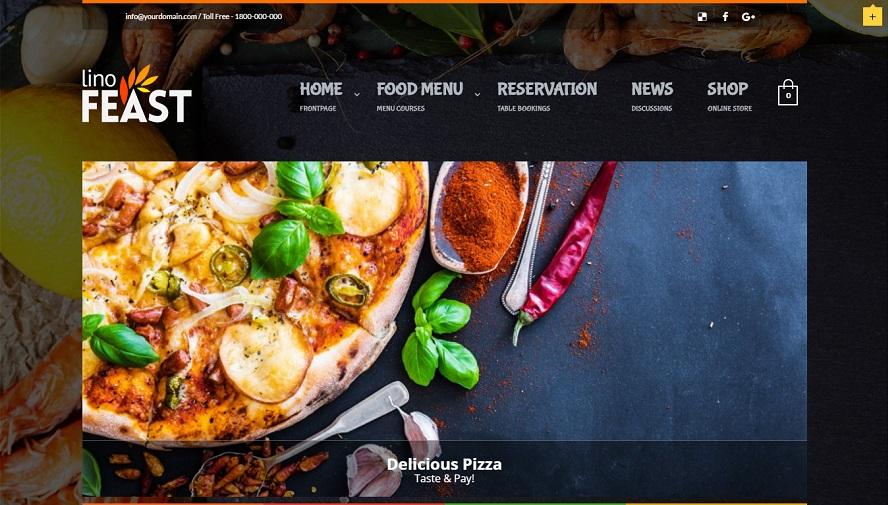 LinoFeast restaurant wordpress theme