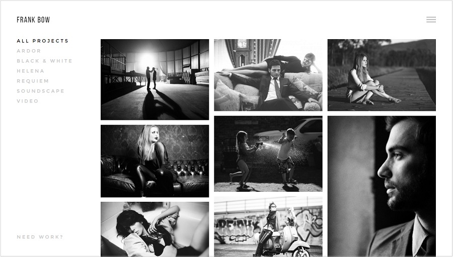Bow Photography wordpress theme
