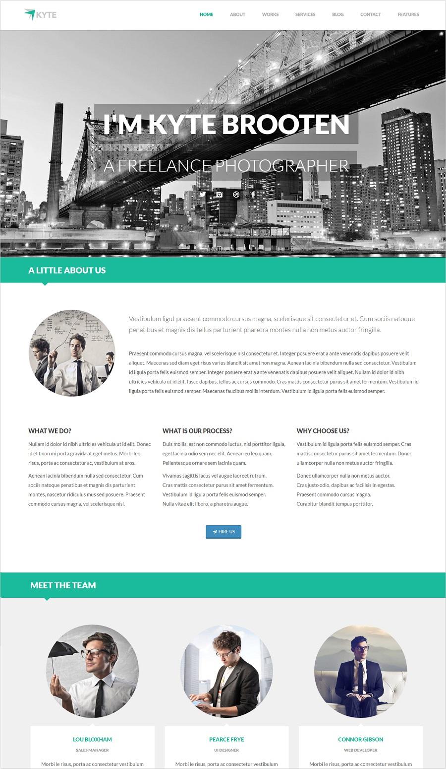 Kyte Photography wordpress theme