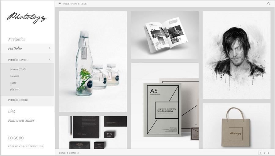 Photology Photography wordpress theme