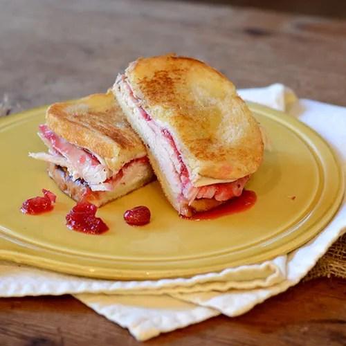 turkey, cranberry, grilled, sandwich, cheese