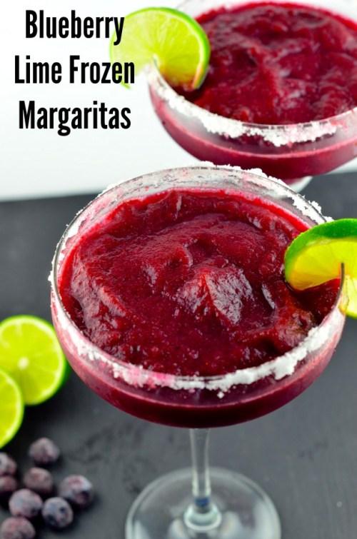 Blueberry Lime Frozen Margaritas