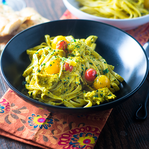 """""""Yellow Curry Pasta #curry #pasta / feedyoursoul2.com"""""""