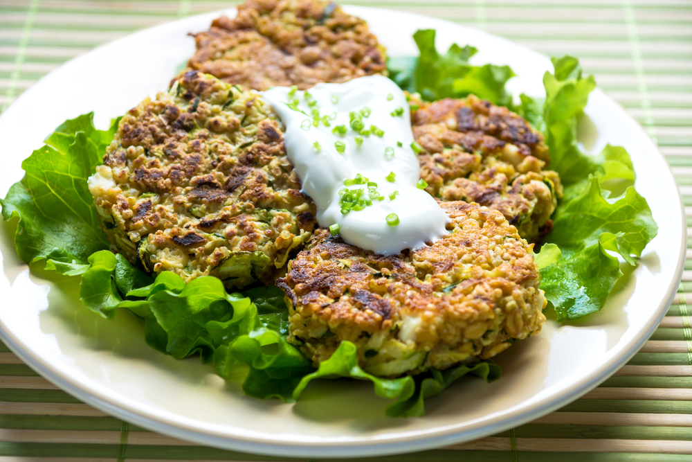 Spicy Courgette Chickpea Burgers