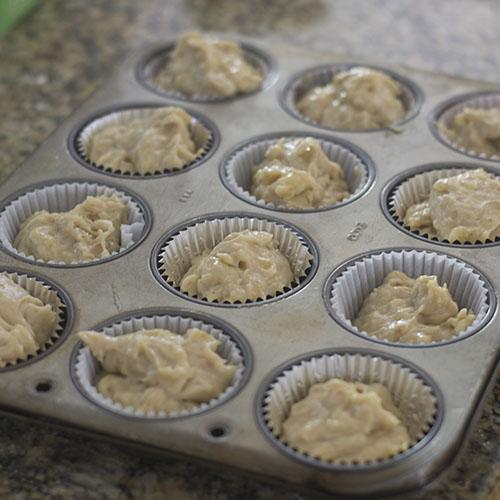 Gluten free Banana Cupcakes Baked In Cupcake Tins