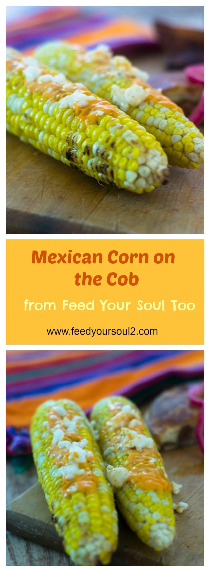 Mexican Corn on the Cob #vegetarian #Mexicanfood #corn | feedyoursoul2.com