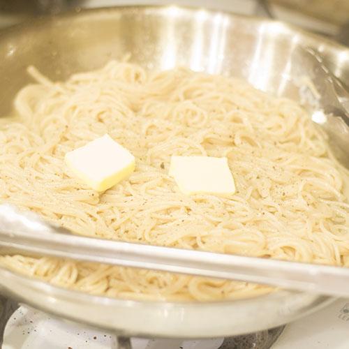 Gluten Free Pasta Butter in Skillet