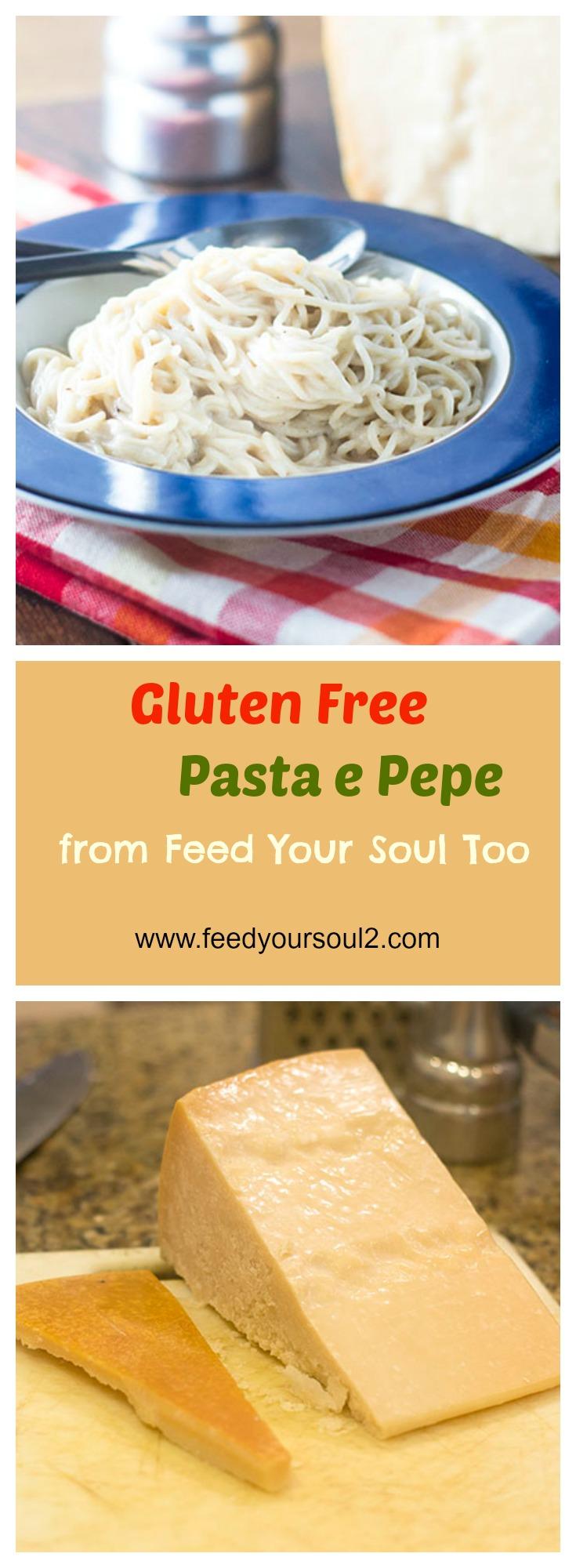 Gluten Free Pasta e Pepe #Italianfood #glutenfree #pasta #cheese| feedyoursoul2.com