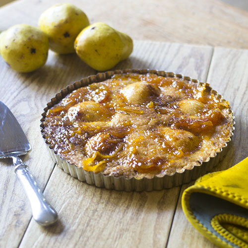 Easy Pear Tart Recipe from Feed Your Soul Too