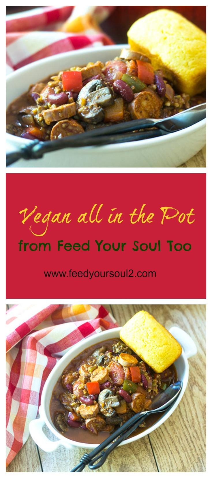 Vegan all in the Pot Chili #vegan#chili #comfortfood | feedyoursoul2.com