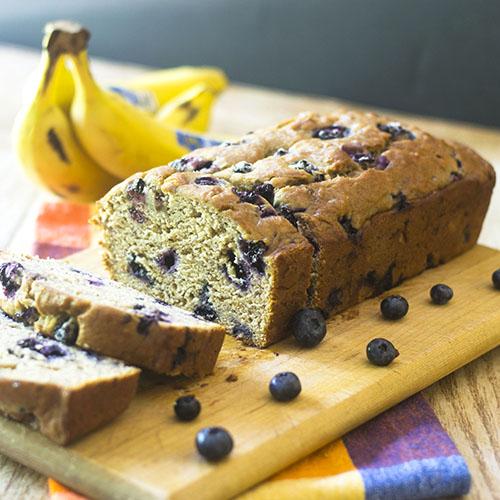 "Vegan Blueberry Banana Bread #dessert #bananas #vegan | feedyoursoul2.com"""