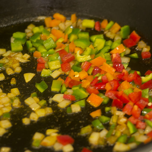 Sauteeing Peppers