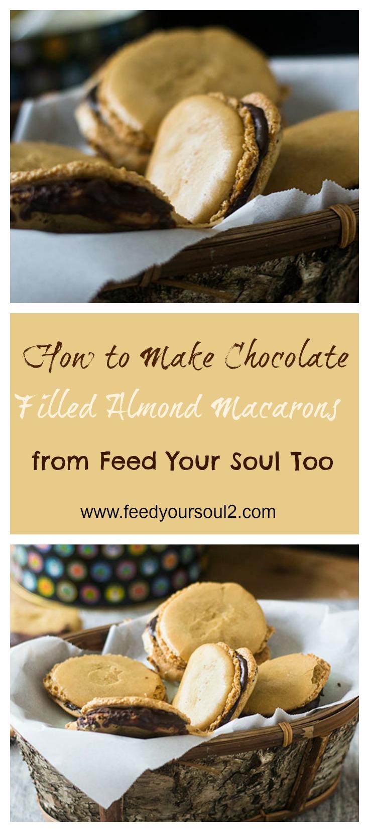 Chocolate Filled Almond Macarons #glutenfree #cookies #dessert   feedyoursoul2.com