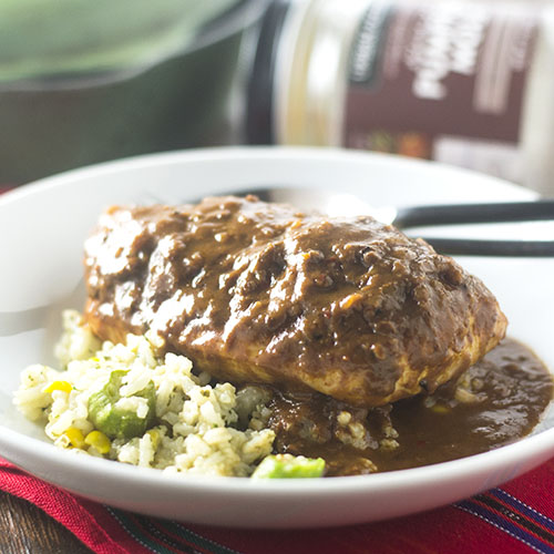 Pumpkin Mole Chicken from Feed Your Soul Too