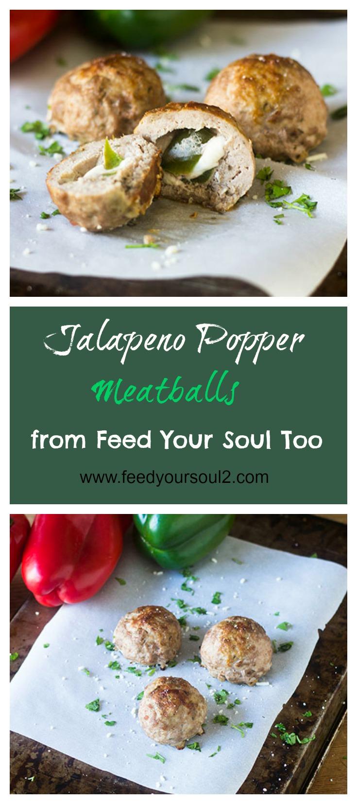 Jalapeno Popper Stuffed Meatballs #meatballs #Mexicanfood #jalapenos #appetizer   feedyoursoul2.com