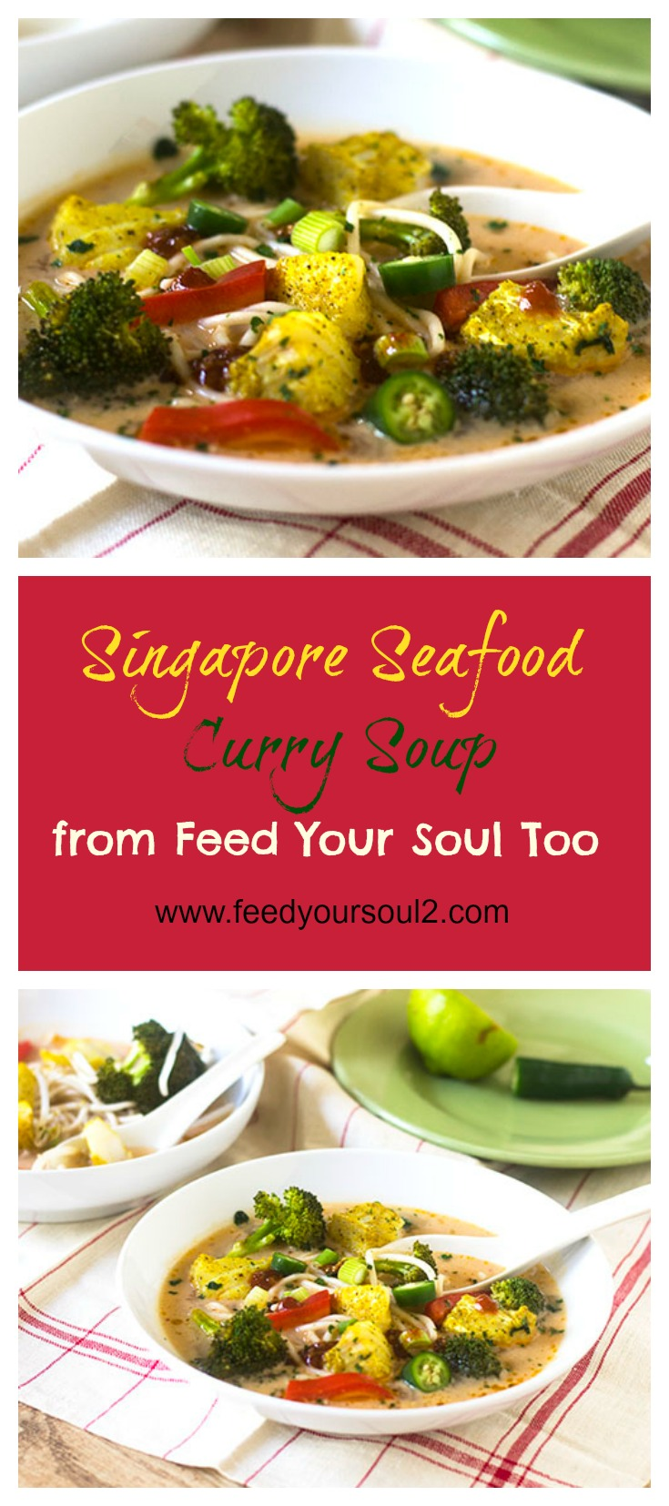 Singapore Seafood Curry Soup #Asianfood #soup #curry | feedyoursoul2.com