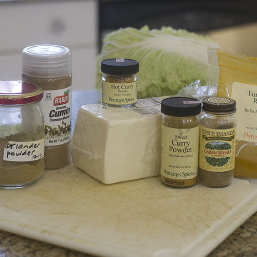 Spice and Cheese Ingredients