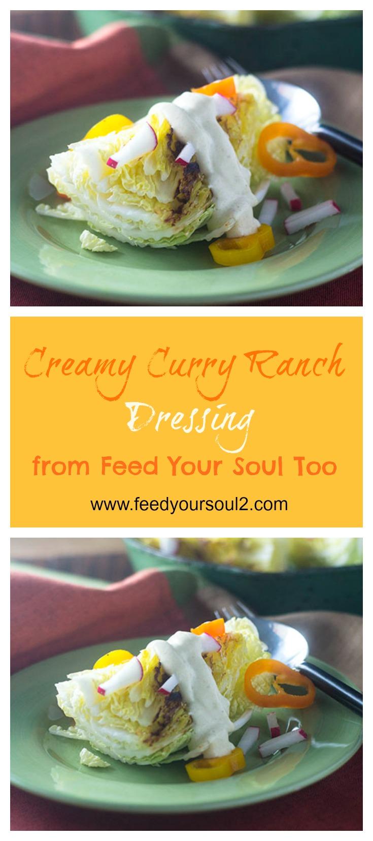 Creamy Curry Ranch Dressing #sidedish #indianfood #dressing #fatfree | feedyoursoul2.com