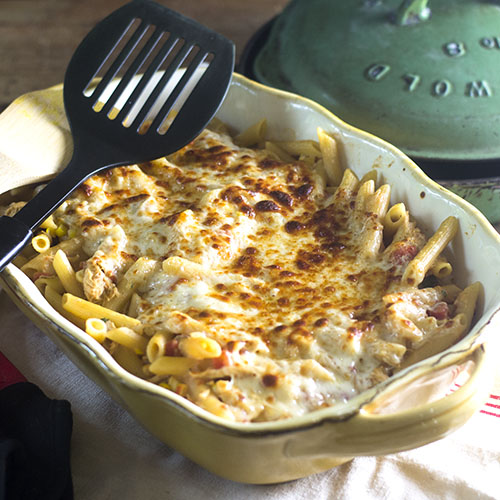 Mexican Chicken Pasta Bake from Feed Your Soul Too