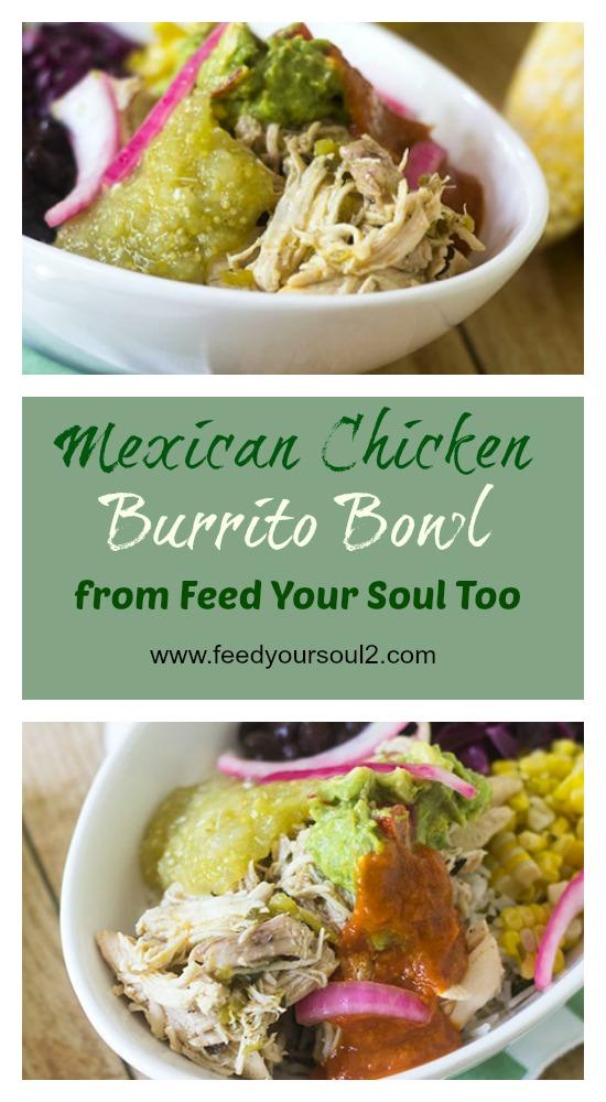 Mexican Chicken Burrito Bowl #dinner #tomatillo #Mexicanfood | feedyoursoul2.com