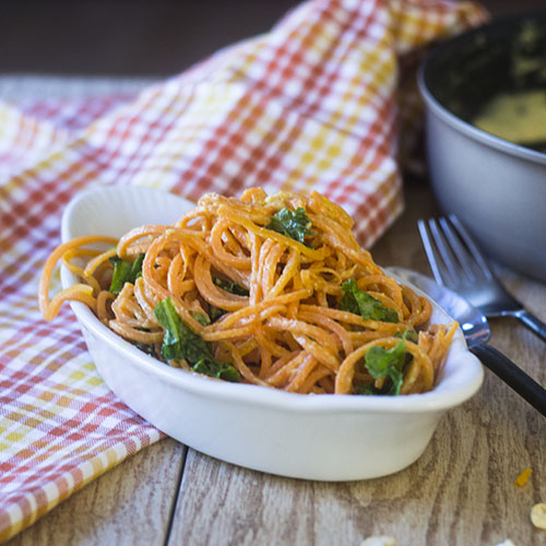 Sweet Potato Vegan Alfredo from Feed Your Soul Too