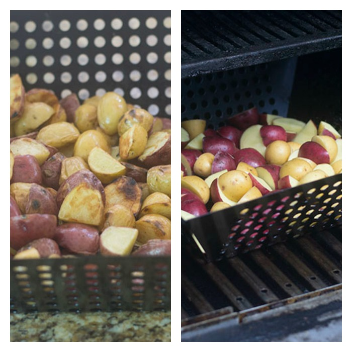 Cut and Grilled Potatoes