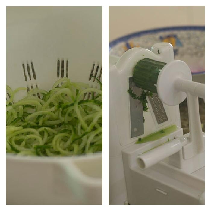 Spiralizing the Cucumbers