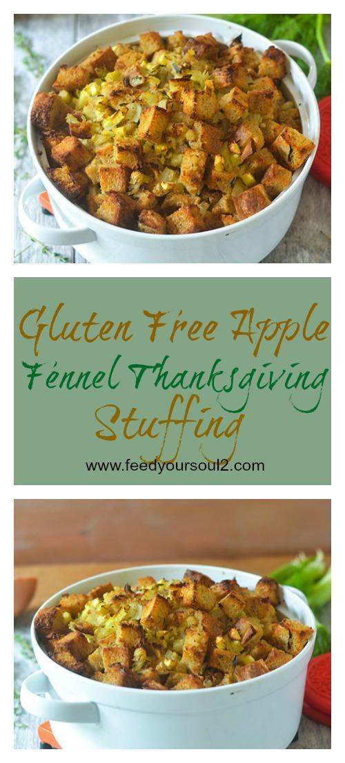 Gluten Free Apple Fennel Thanksgiving Stuffing #vegetarian #glutenfree #thanksgiving #holiday | feedyoursoul2.com