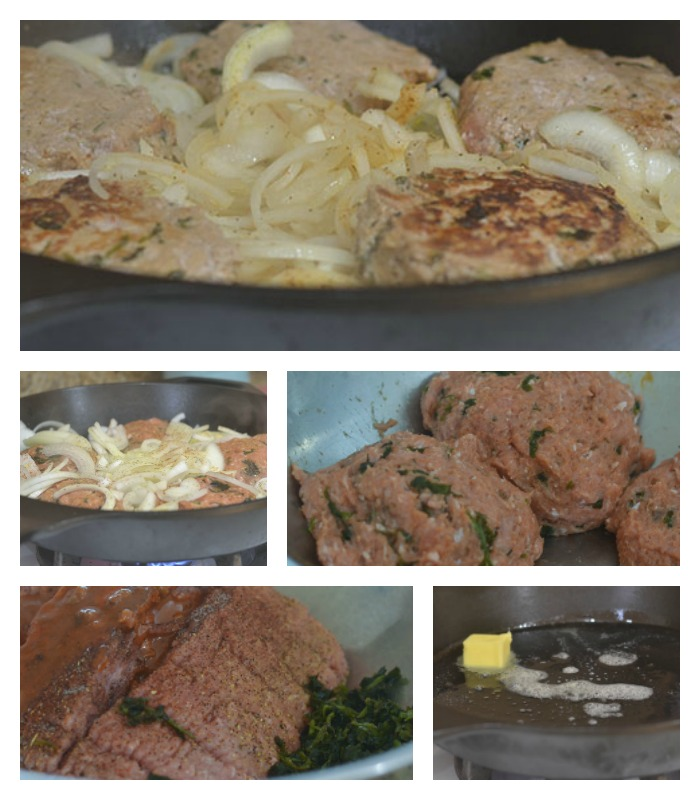Creating the Grilled Onion Turkey Burger