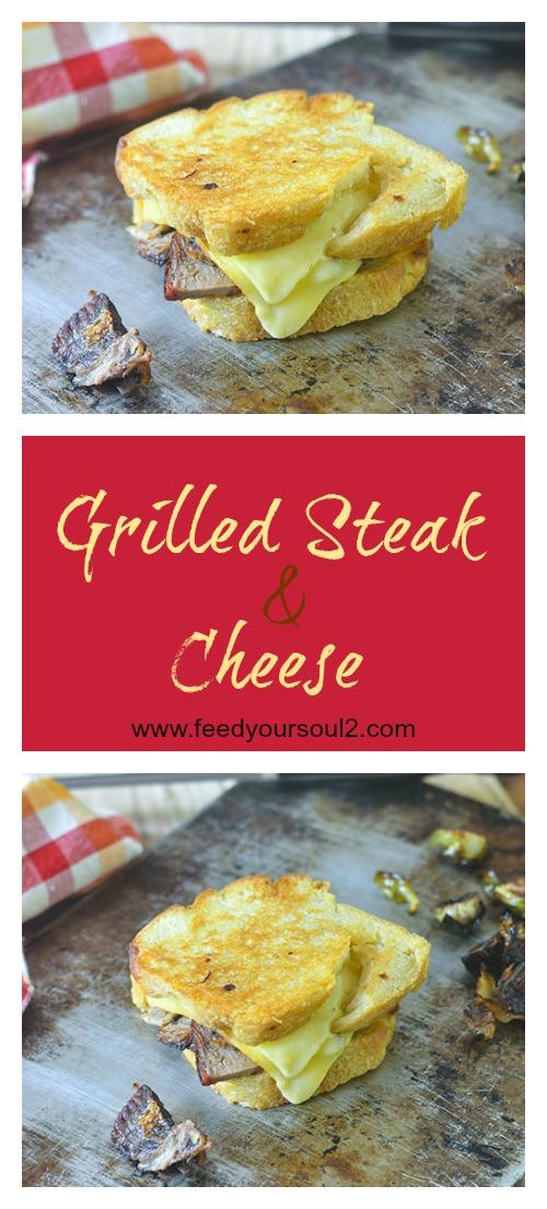 Grilled Steak & Cheese #bread #sandwich #cheese | feedyoursoul2.com