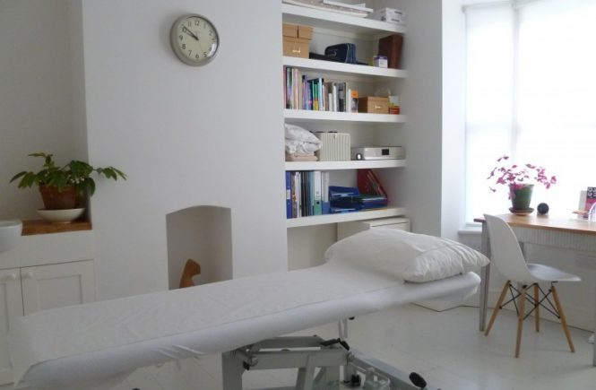 Osteopathy treatment room in Leamington Spa and Warwick