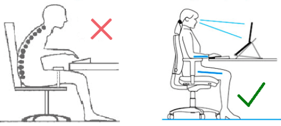 Desk posture and ergonomic set-up to prevent neck pain & lower back pain Warwick osteopath, Emma Lipson