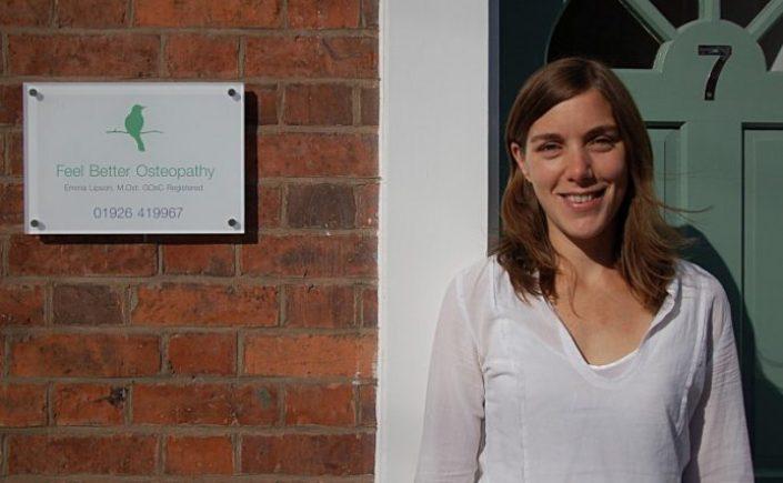 Emma Lipson, Feel Better Osteopathy, Principal Osteopath Warwick and Leamington Spa