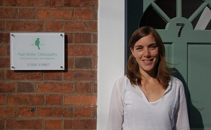 Emma Lipson, Feel Better Osteopathy, Principal Osteopath Warwick and Leamington Spa