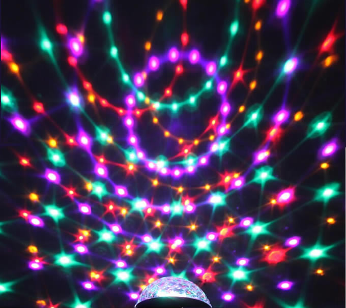 Multicolor Changing LED Magic Crystal Ball Effect Light