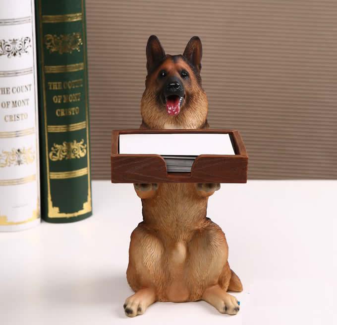 Dog Desk Business Card Holder FeelGift