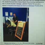 This is an image of Norwood swim centre giving away free massages for FGF