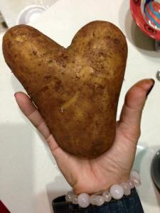 This is an image of a massive potato heart