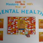 This is an image of a positive quote wall created by Master Hardware Box Hill