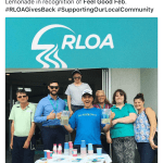 This is an image of RLOA's lemonade stand during FGF