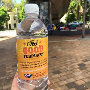 This is the image of the Feel Good Feb Drink Bottle.