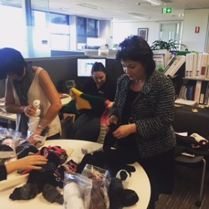 This is the image for Australian Hearing gets busy with the Winter Care Kit donation drive.