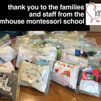 This is an image of Farmhouse Montessori school's donations