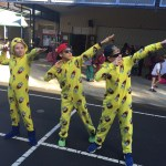 This is an image of Eastwood Heights PS students on KIC / PJ Day
