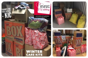 This is an image of so many donations in Kennards Self Storage Boxes
