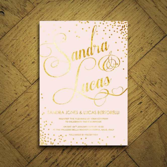 Elegant Classic Foil Invitation Feel