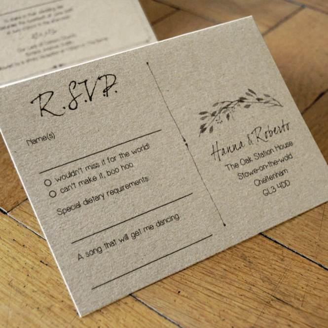 Woodland Story Wedding Invitation